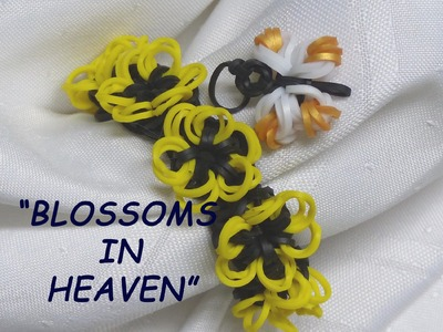 "Rainbow Loom Bracelet - Original Design - PART 2 - ""BLOSSOMS IN HEAVEN"" (ref # 3Soo)"
