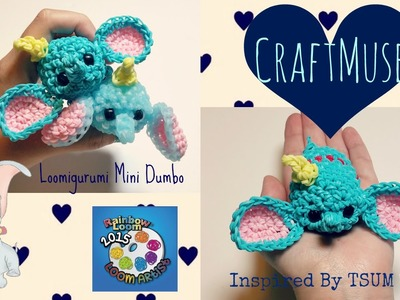 Rainbow Loom Loomigurumi Mini Dumbo (Inspired by TSUM TSUM)