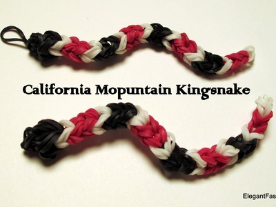 Rainbow Loom Snake Charm - California Mountain King snake - How to