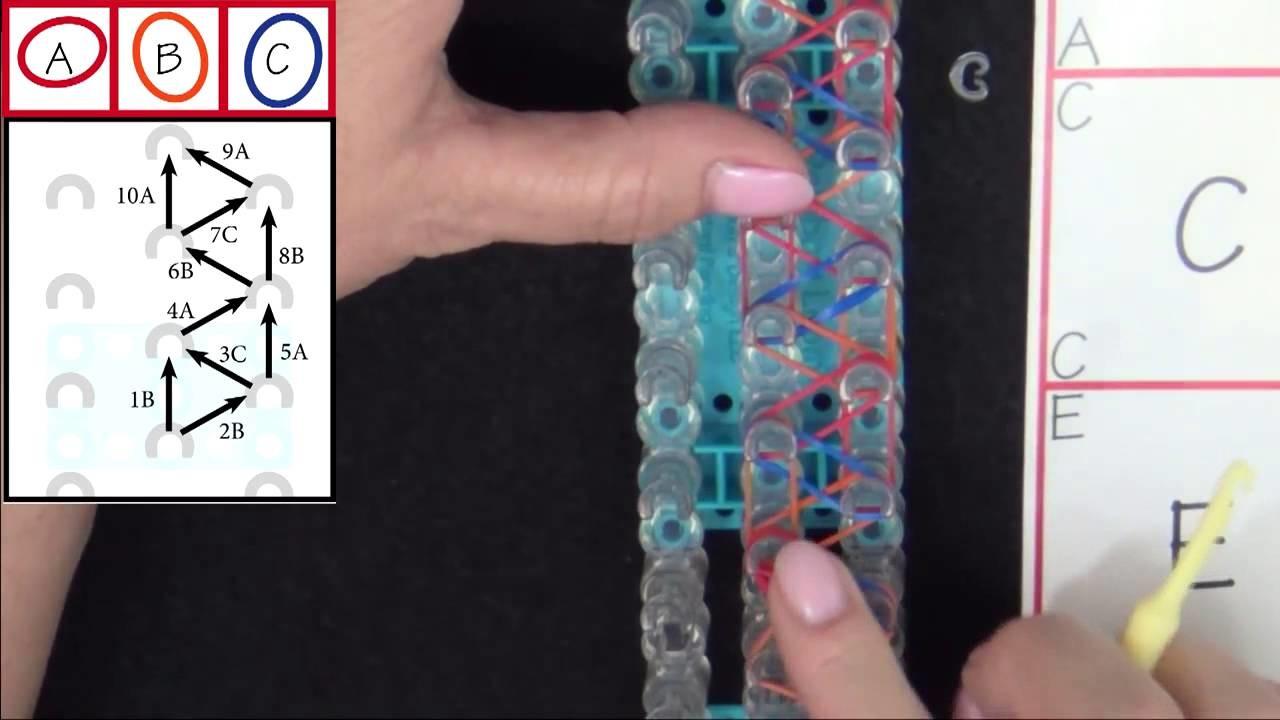 Rainbow Loom: Speckled Rhombus Bracelet Tutorial