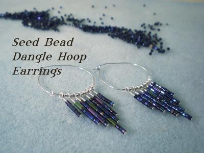 Seed Bead Dangle Hoop Earrings Video Tutorial