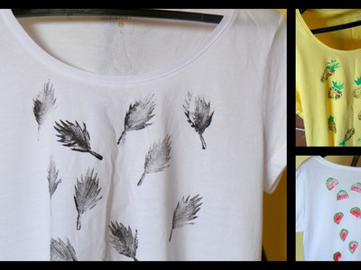 Stamped T-shirts DIY. Cool Summer Clothing Idea | by Fluffy Hedgehog