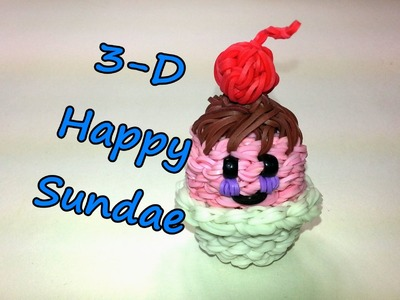 3-D Happy Ice Cream Sundae Tutorial by feelinspiffy (Rainbow Loom)