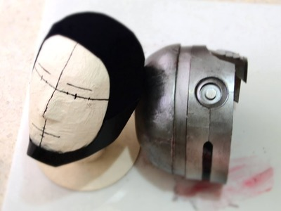 #42: RoboCop Helmet DIY 6.6 - Paint, Battle Damage, Chin Guard, Tinted Visor.