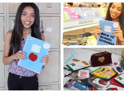 Back To School Supplies Haul 2014 + giveaway!!!