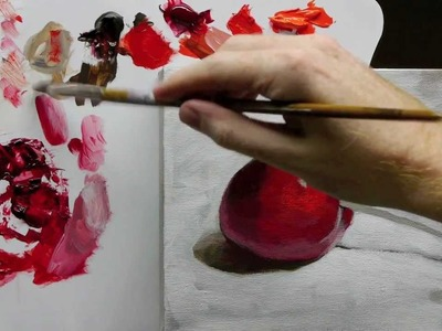 Beginners Acrylic Still Life Painting Techniques demo - Part 3