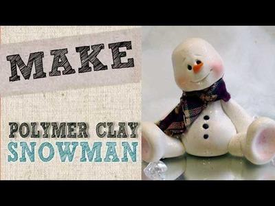 Create a polymer clay Snowman - Linda Peterson - Free Video tutorial