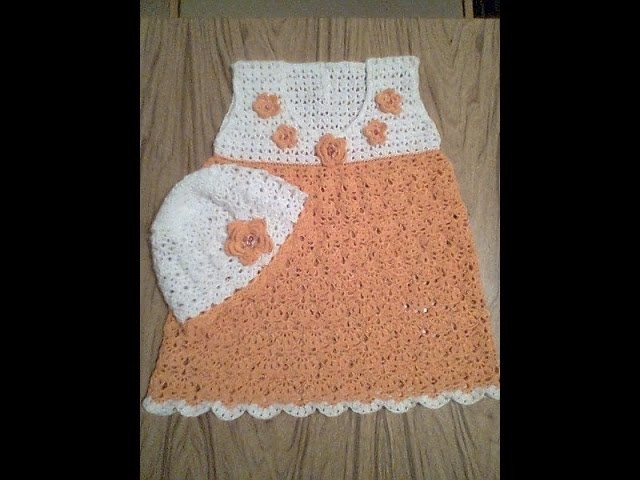Crochet baby dress| How to crochet an easy shell stitch baby. girl's dress for beginners 143