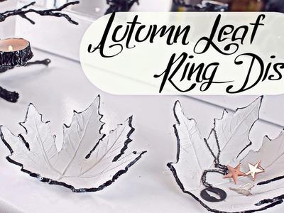 DIY Autumn leaf Jewelery dish