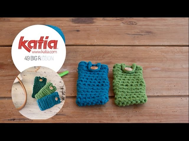 DIY Big Ribbon: Funda móvil ganchillo · Cell phone crochet cover