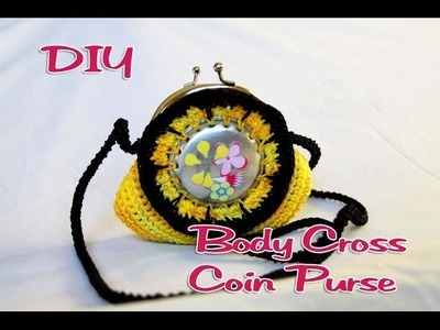 DIY: Body Cross Coin Purse made with Soda Can Bottoms part 1