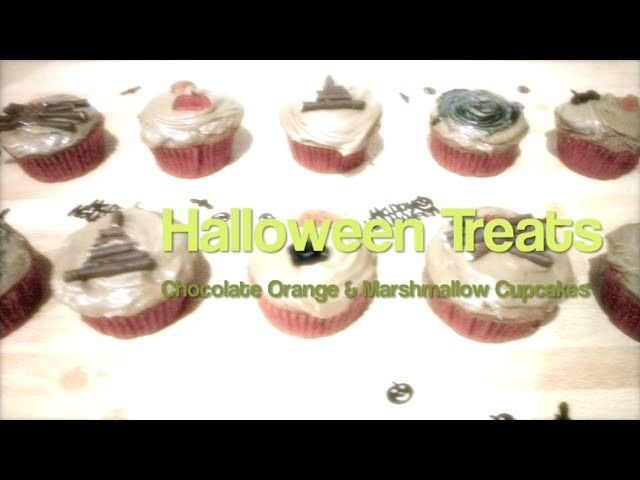 DIY: Easy Halloween Treats. Chocolate Orange Cupcakes!