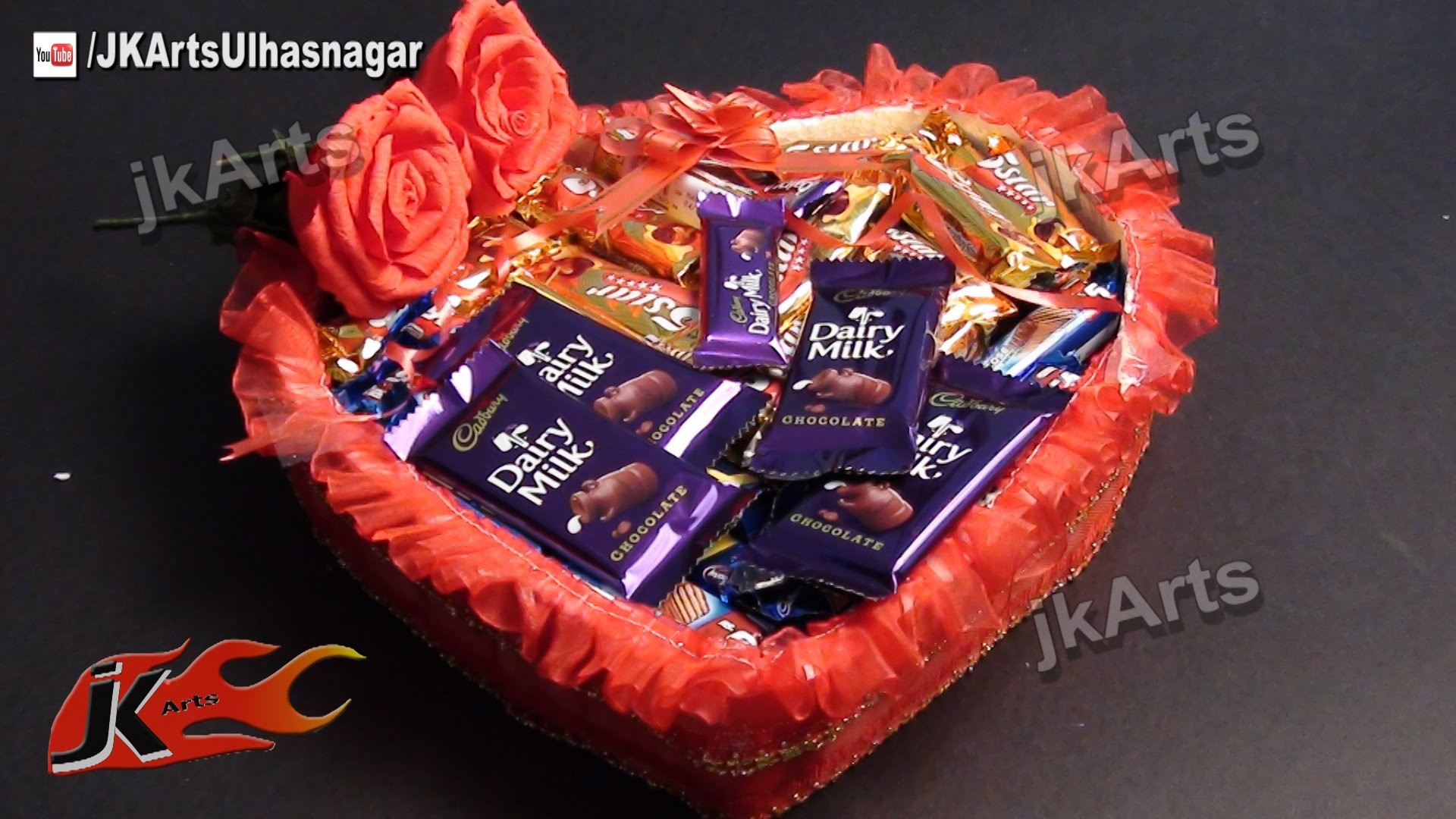 DIY Gift Idea | Chocolate Gift Basket (How to make) | JK Arts 481