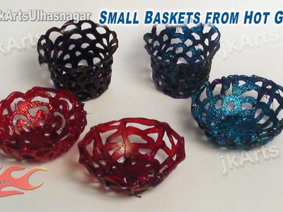 DIY Mini Baskets from Hot Glue | How to make | JK Arts 584