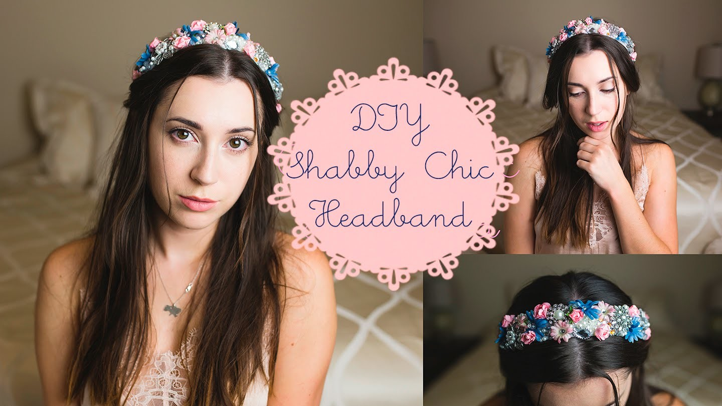 DIY Shabby Chic Headband, Easy and Affordable