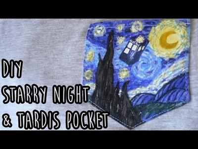 DIY Starry Night & TARDIS Pocket Shirt | LDP