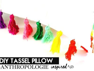 DIY Tassel Pillow {Anthropologie Inspired} | crystalcreateschic