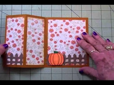 "FUN CARD FOLDS #1 ""AWESOME AUTUMN"" S OR Z FOLD CARD"