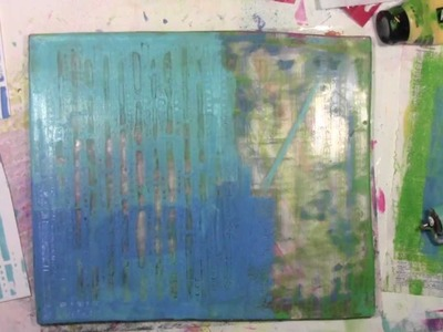 Gelli Plate with Envelopes and Stencils with Carolyn Dube
