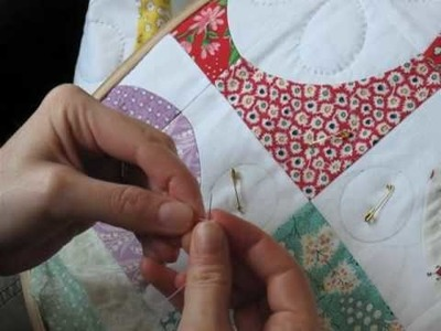Hand Quilting 2 -- Threading and Making the Knot