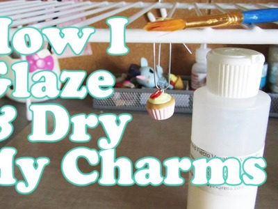 How I Glaze & Dry My Charms
