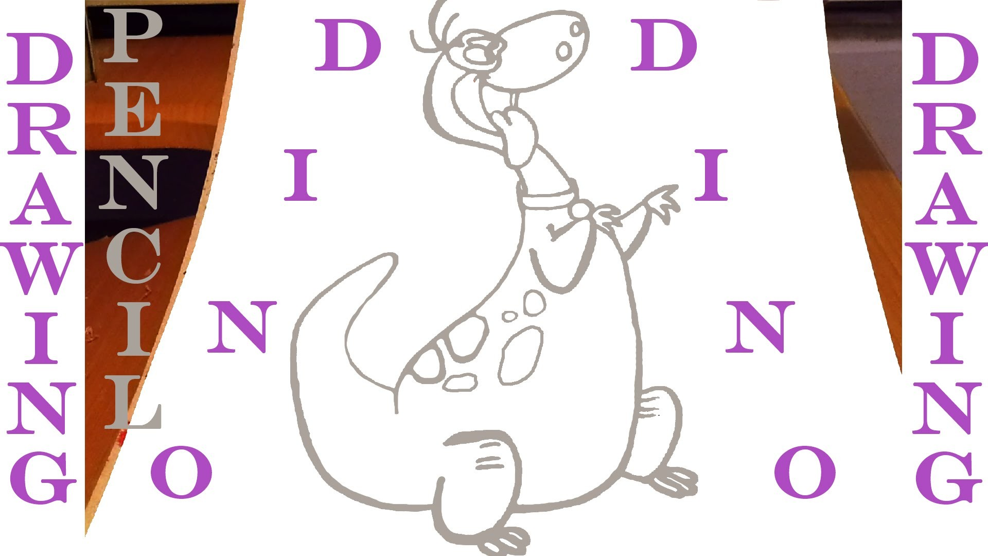 How to draw a Dinosaur DINO Easy - The Flintstones - Cartoon Network | PENCIL | SPEEDY