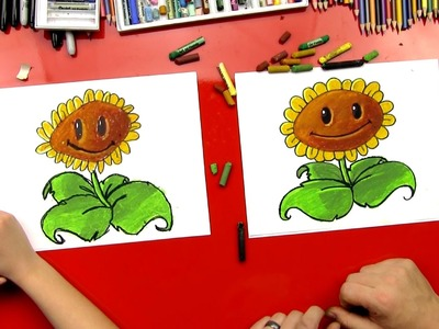 How To Draw A Sunflower (Plants vs. Zombies)