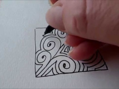 How to draw tanglepattern Opus