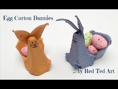 How to Make a Bunny & Basket from an Egg Carton