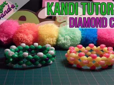 How to Make a Diamond Cuff (Style 1)- [Kandi Tutorial]