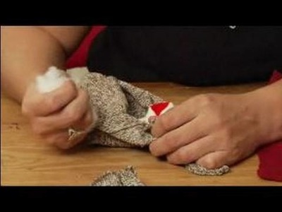 How to Make a Monkey Sock Puppet : How to Stuff the Snout of a Sock Puppet