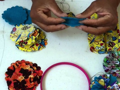 Learn how to make Fabric flowers