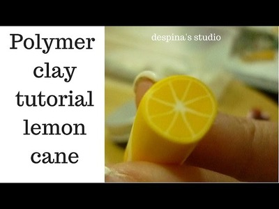 Lemon cane polymer clay tutorial