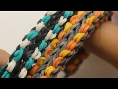*NEW* Double Dotted Fishtail Bracelet on the Rainbow Loom!