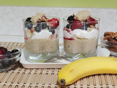 Oatmeal Parfait Recipe Video - Quick healthy breakfast