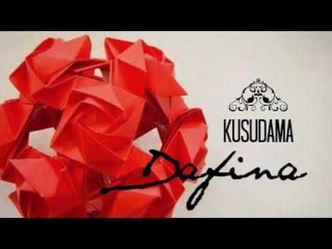 Origami ball. Kusudama Dafina (Andrei Dumitriu)