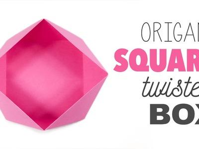 Origami Square 'Twisted' Box