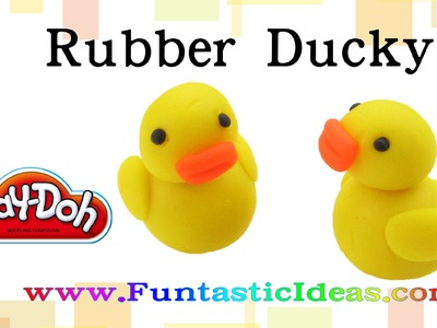 Play doh Rubber Ducky - How to tutorial with playdough