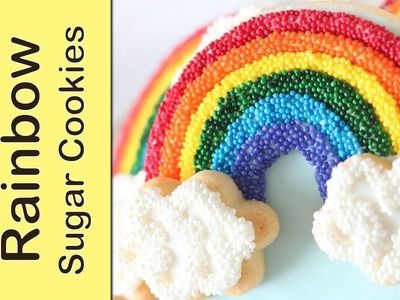 Rainbow cookies without mixing colors - Sprinkle sugar cookies - rainbow cookie