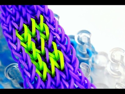 Rainbow Loom Armband Buchstabe B längs - Rainbow Loom Bracelet Letter B