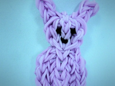 Rainbow Loom Easter Peep Bunny Rabbit Charm Tutorial