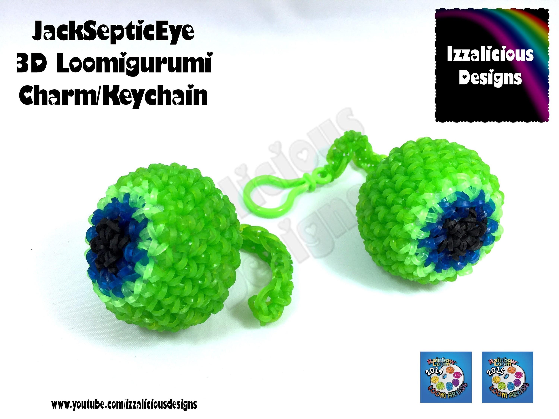 Rainbow Loom   JackSepticEye 3D Loomigurumi Charm   Hook only amigurumi design