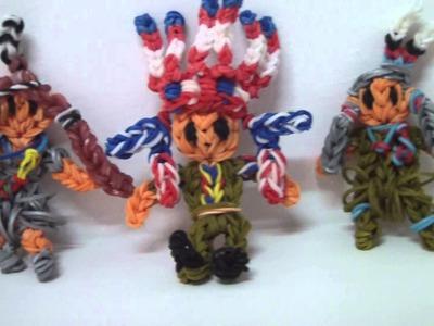 RAINBOW LOOM - Native American Indian figures