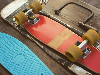 Recycled Wooden Penny Board (out of a skateboard)
