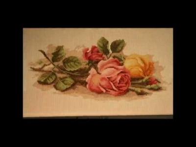 Rose Cross Stitch Stop Motion
