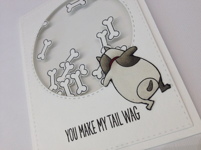 Thin shaker card tutorial with My favorite things and Simon Says Stamp