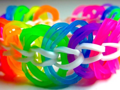 Triple Link Chain Rainbow Loom Bracelet without Loom