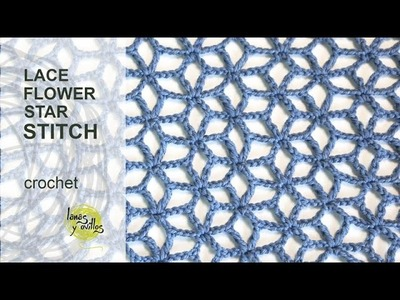 Tutorial Lace Star Flower Crochet Stitch in English