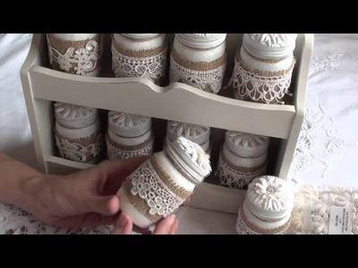 Wild Orchid crafts - Shabby Chic Spice Rak