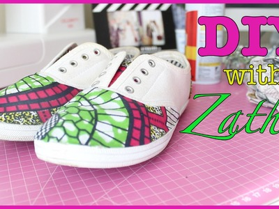 ZATHU DIY | African Print Shoes